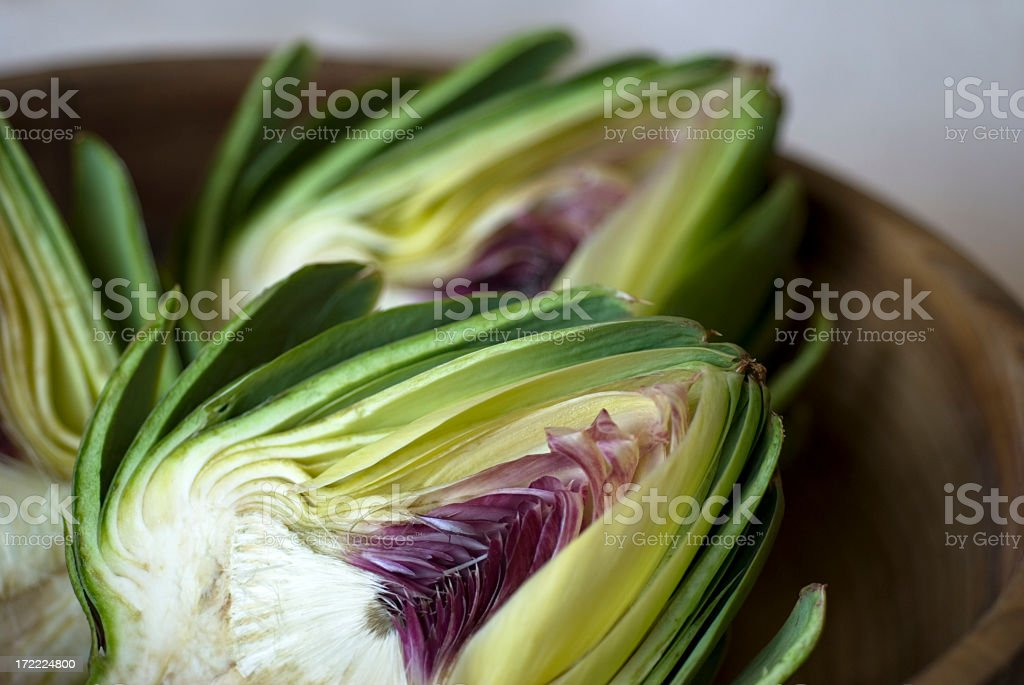 Artichoke halves stock photo