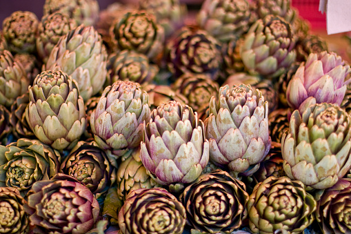 Artichoke In A Street Market In Catania Sicily Stock Photo - Download Image Now