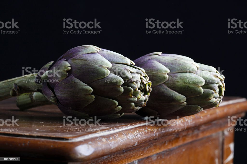 artichoke on the table royalty-free stock photo