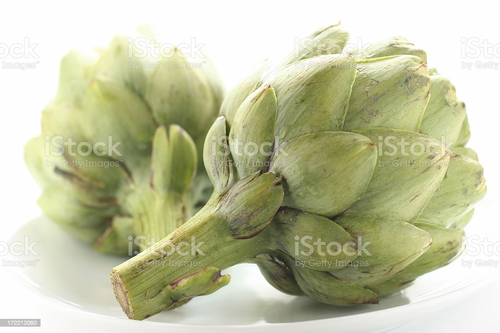 Artichoke Pair royalty-free stock photo