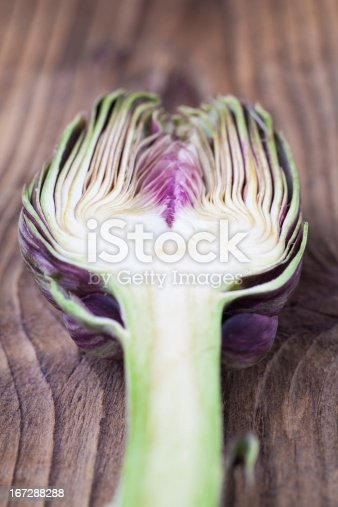 Close-up image of an sliced artichoke.