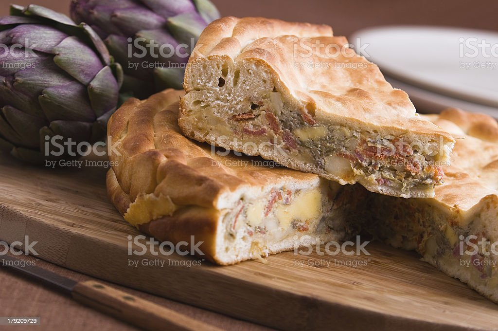 Artichoke Pie. royalty-free stock photo