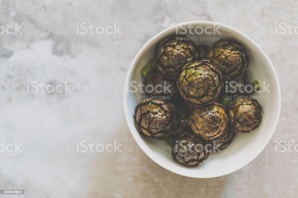 Artichoke romanesco - foto stock