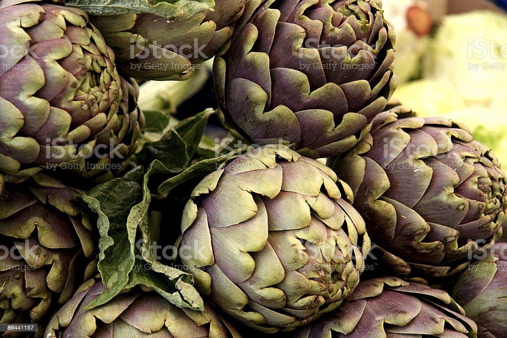 artichokes in detail royalty free stockfoto