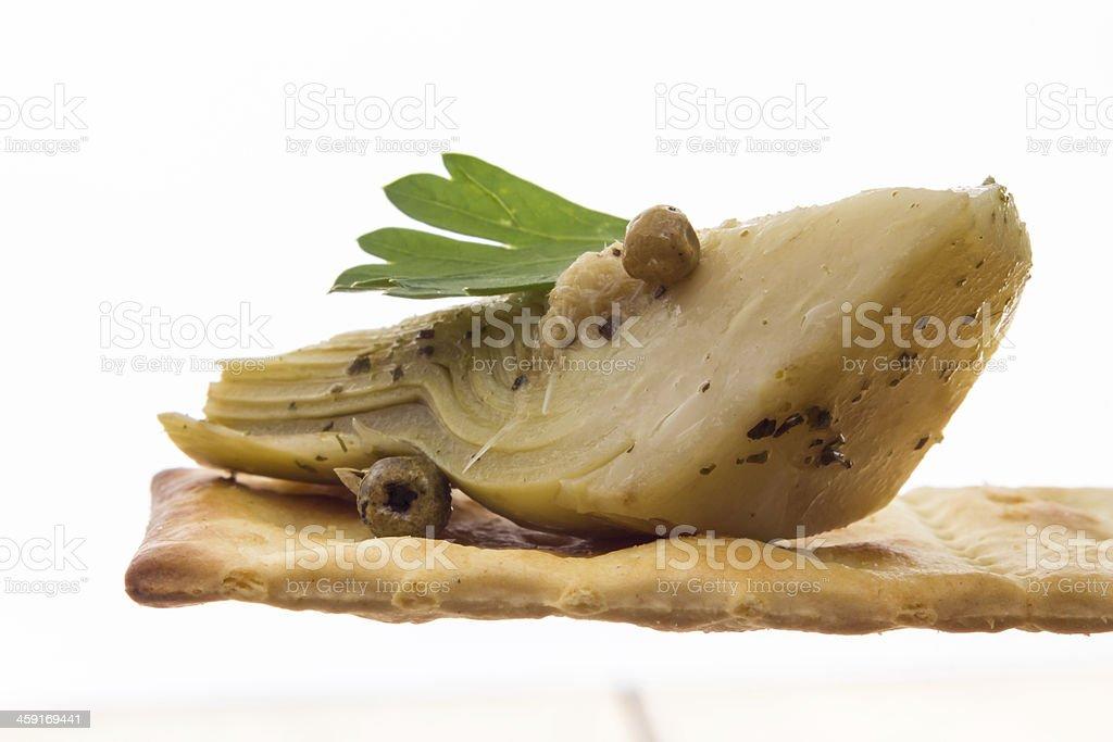 Artichokes in oil stock photo