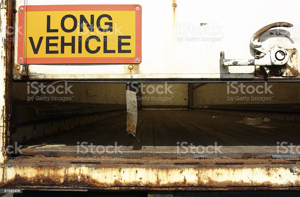 articulated truck and trailers stock photo