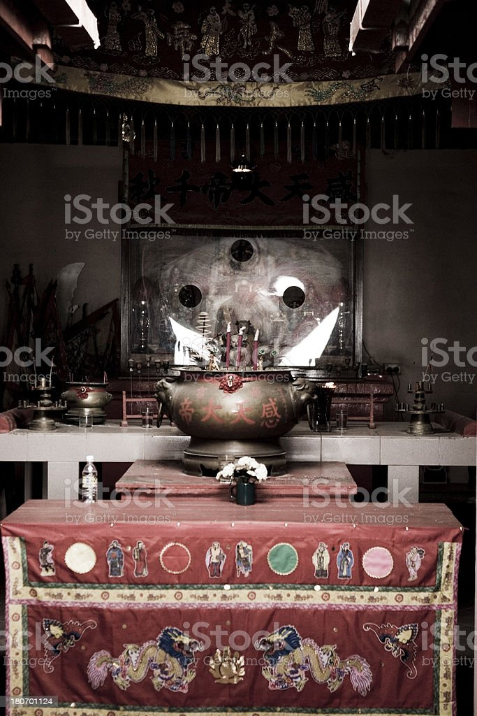 Artifacts in Chinese Temple royalty-free stock photo