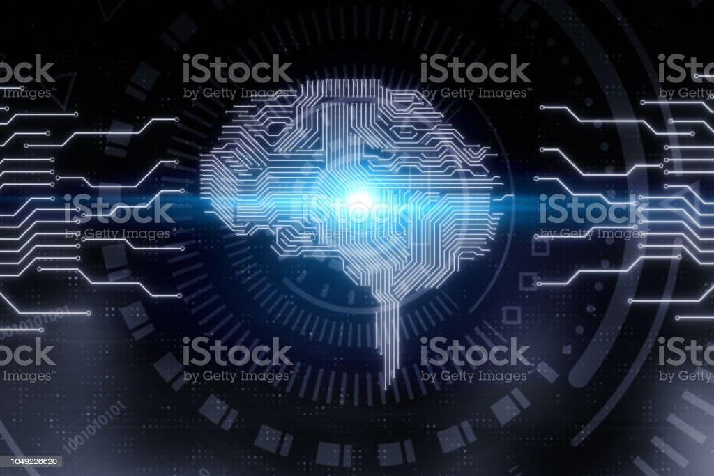 Artifical intelligence and tech concept stock photo