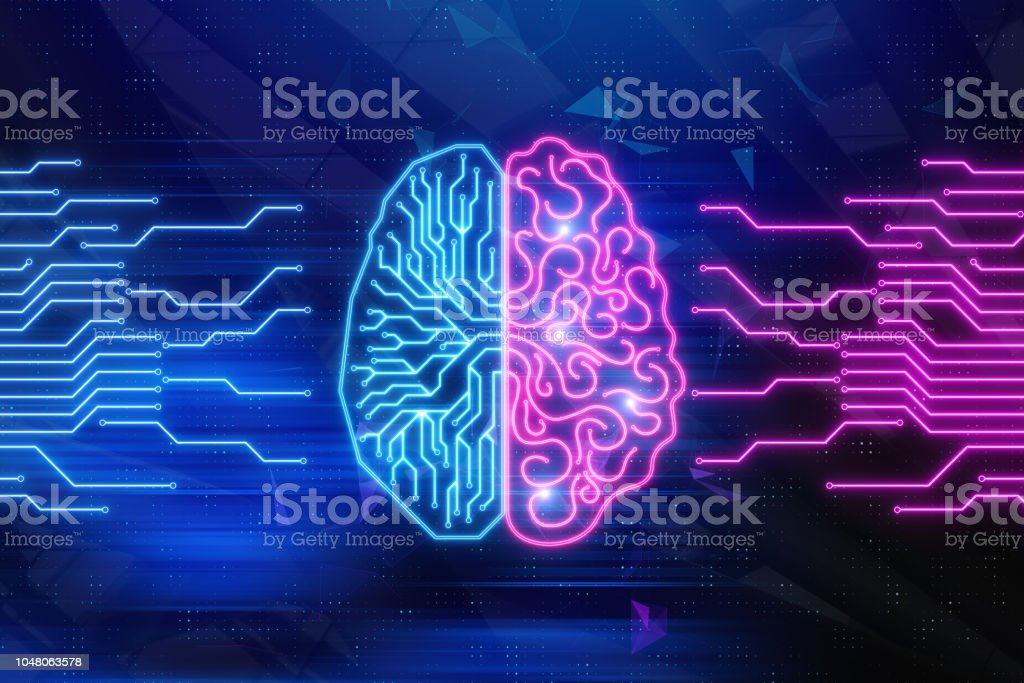 Artifical intelligence and technology concept stock photo