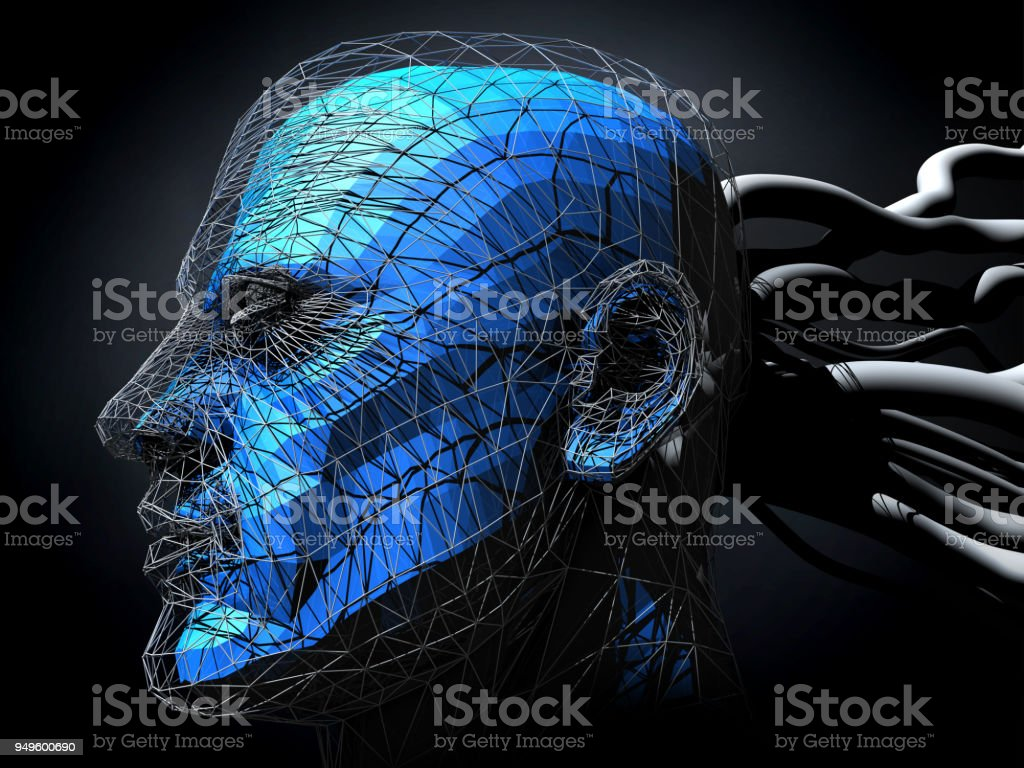 Artifical Intelligence Cyborg stock photo