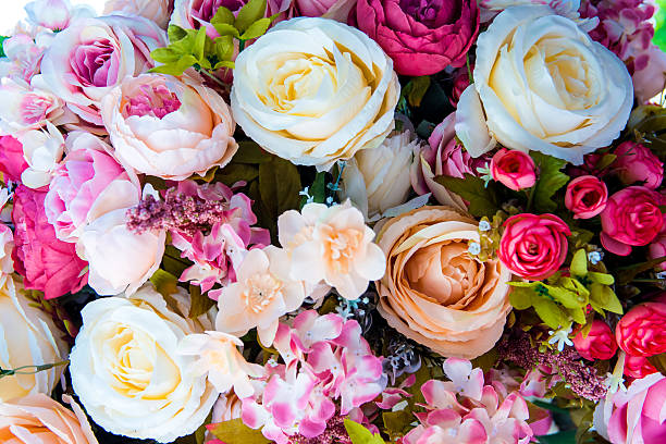 Artificia Floral Background Stock Photo