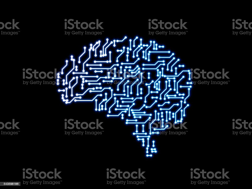 Artificial Brain stock photo