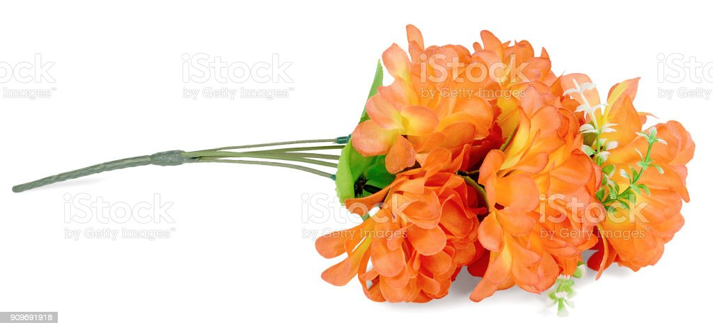 artificial branch flowers of orange stock photo