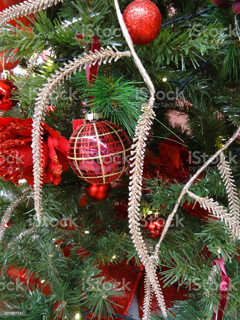 Artificial Christmas Tree Decorations Baubles Silver