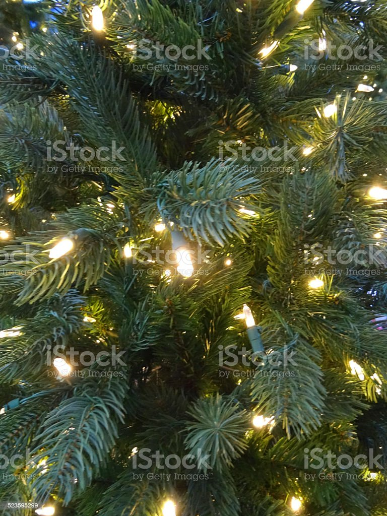artificial christmas tree decorations green foliage needles white led fairy lights royalty - Green Christmas Tree Decorations