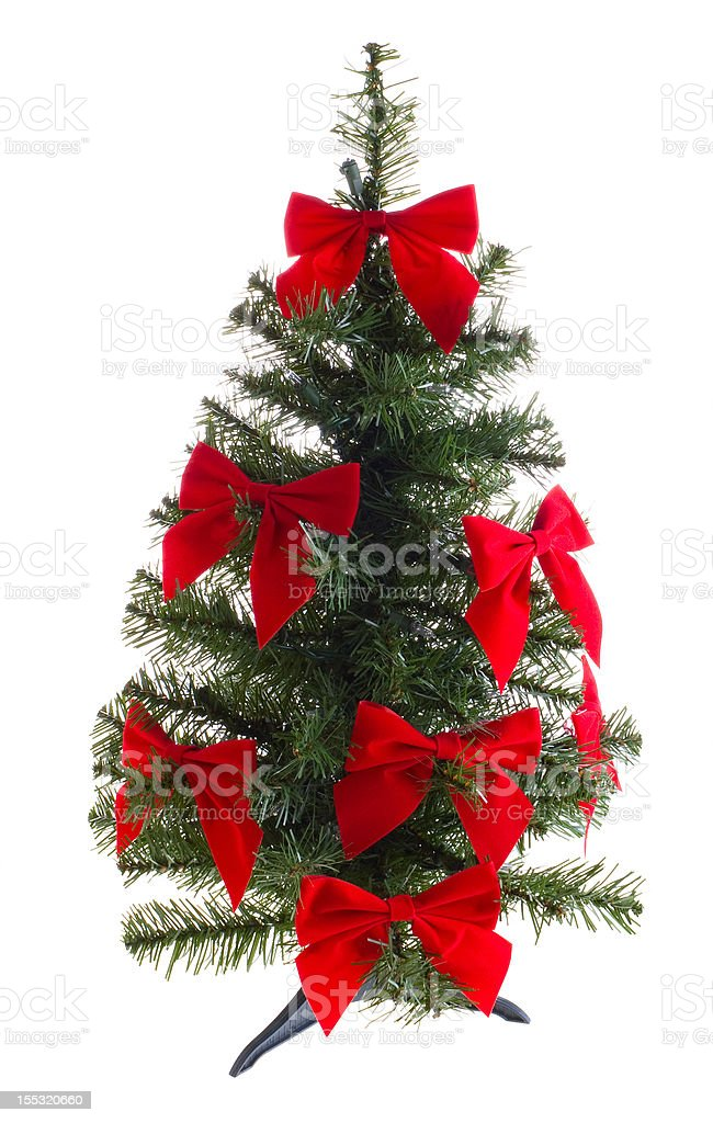 Artificial christmas tree royalty-free stock photo