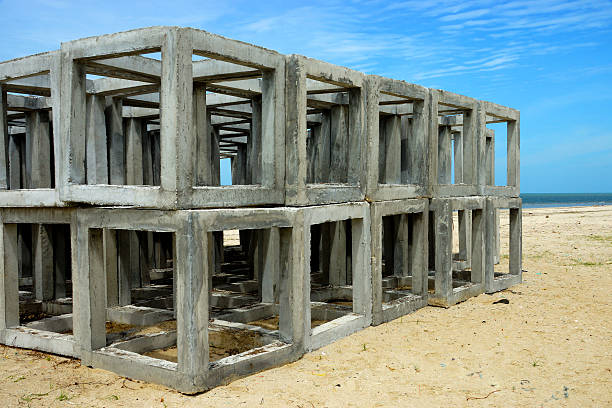 artificial cube reef - artificial reef stock pictures, royalty-free photos & images