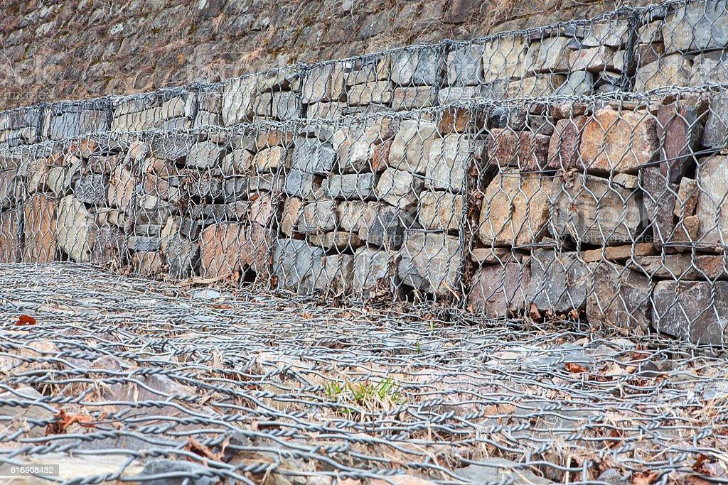 artificial dam stock photo