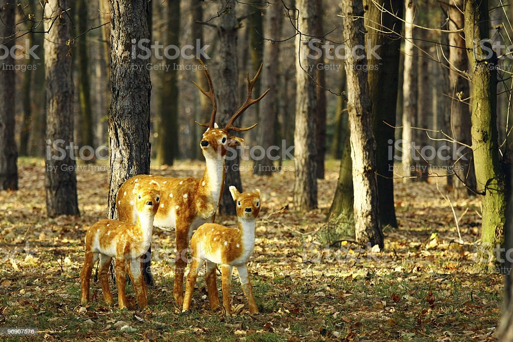 artificial deers royalty-free stock photo