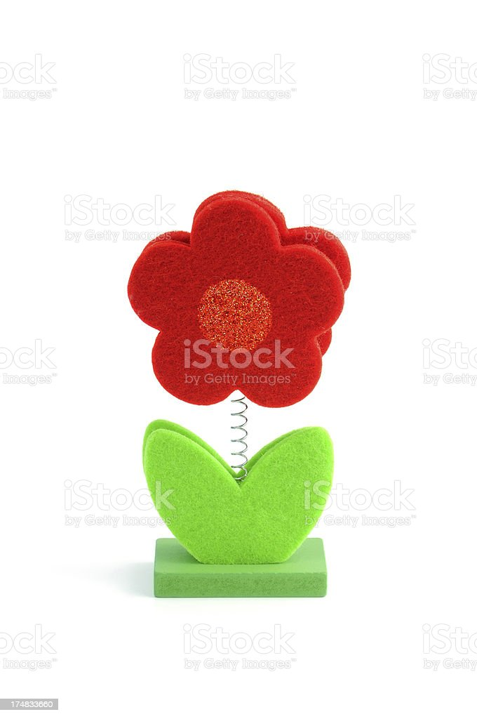 artificial fabric flower royalty-free stock photo