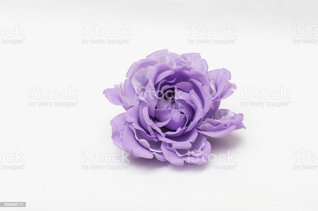 Artificial flower made of cloth stock photo