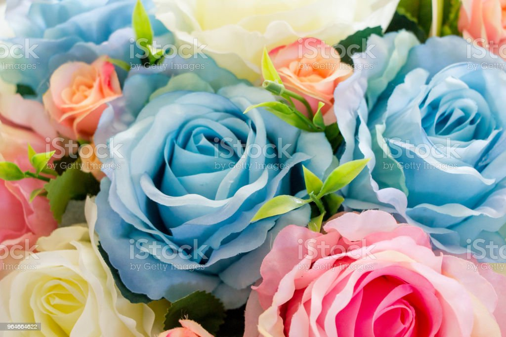 artificial flowers for decoration royalty-free stock photo