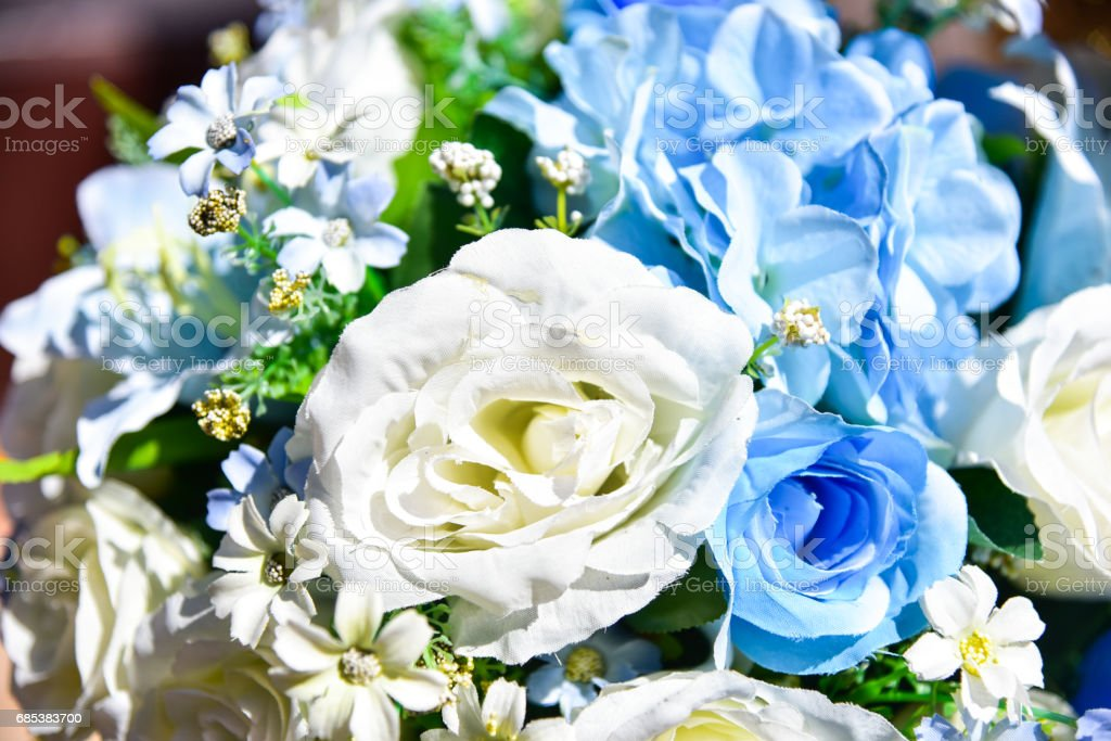 Artificial flowers royalty-free stock photo