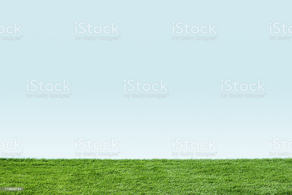 Artificial Grass and Blue Sky stock photo