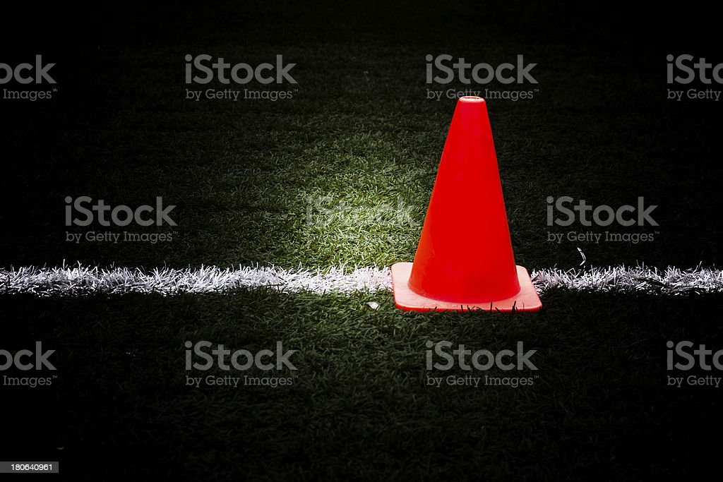 Artificial grass and traffic cones. royalty-free stock photo