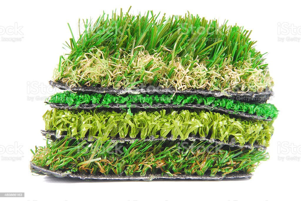 artificial grass astroturf selection stock photo