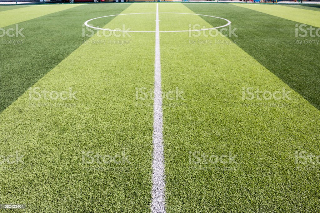 artificial grass football field royalty-free stock photo