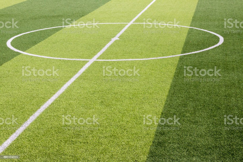 artificial grass football field photo libre de droits