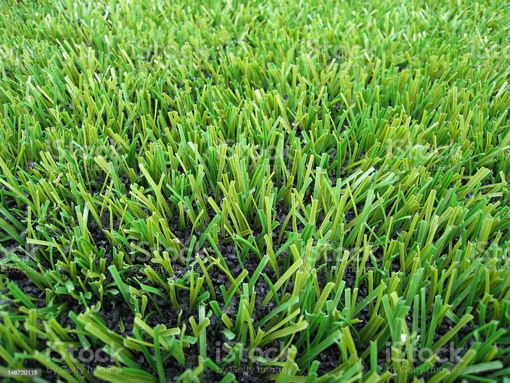 Artificial grass sports playing field stock photo