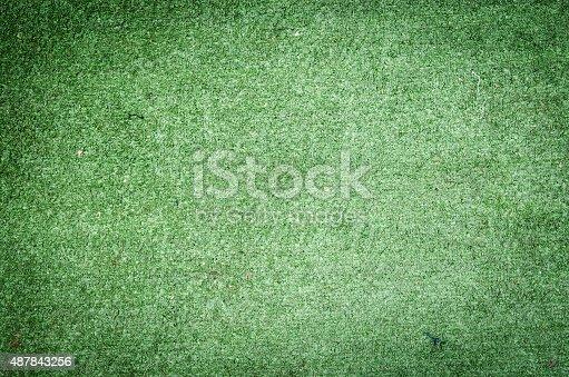 istock Artificial grass texture background 487843256