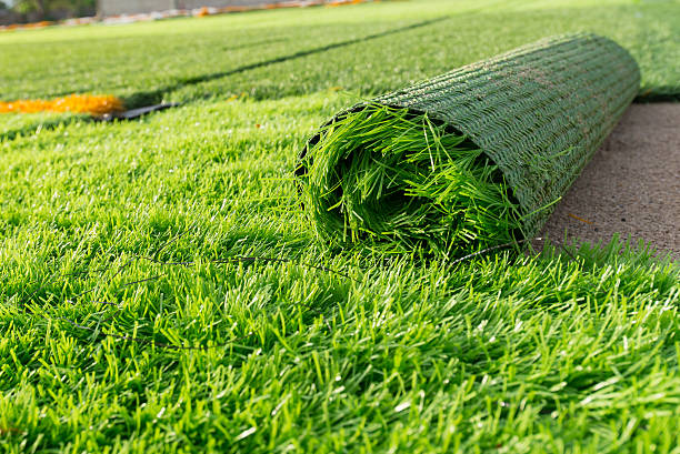 artificial green grass artificial green grass turf stock pictures, royalty-free photos & images