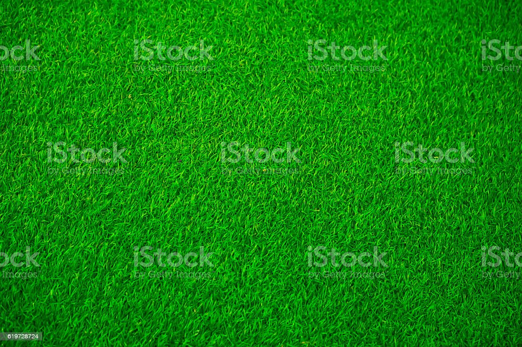 Artificial green grass texture for background stock photo