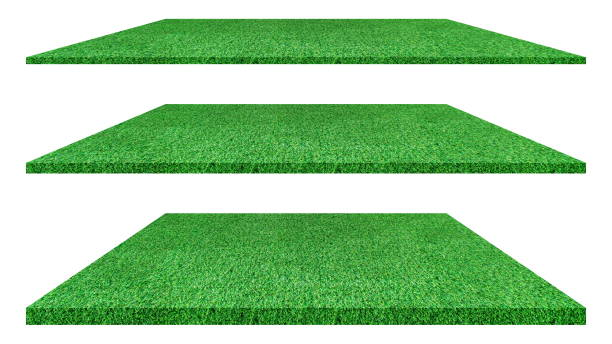 Artificial green grass texture isolated on white background for golf course. soccer field or sports background concept design. grass carpet. Artificial green grass texture isolated on white background for golf course. soccer field or sports background concept design. grass carpet. turf stock pictures, royalty-free photos & images