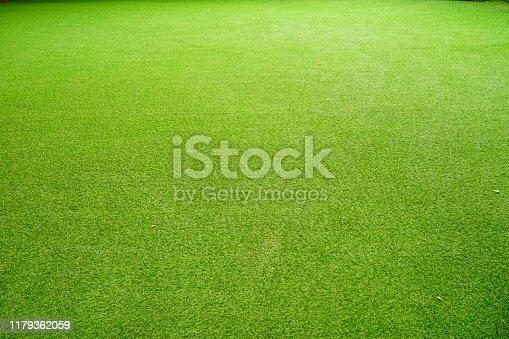 istock Artificial green grass texture 1179362059