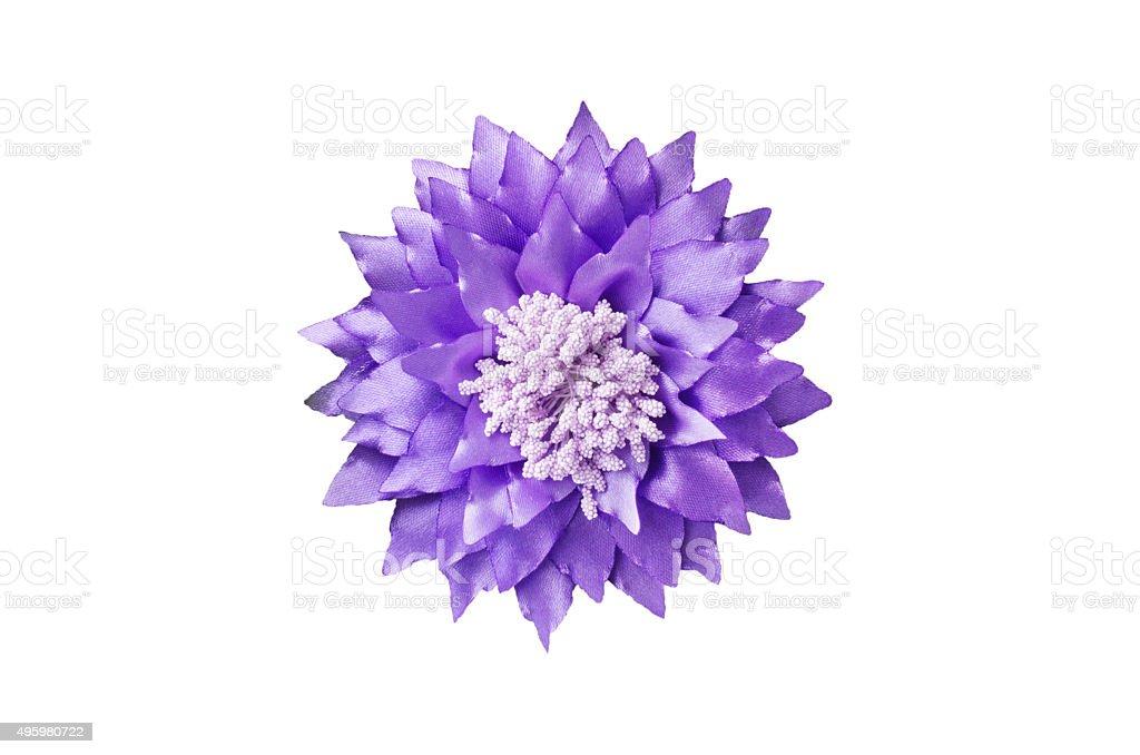 Artificial handmade flower stock photo