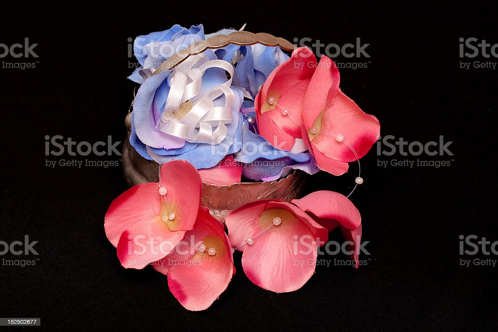 artificial handmade roses royalty-free stock photo