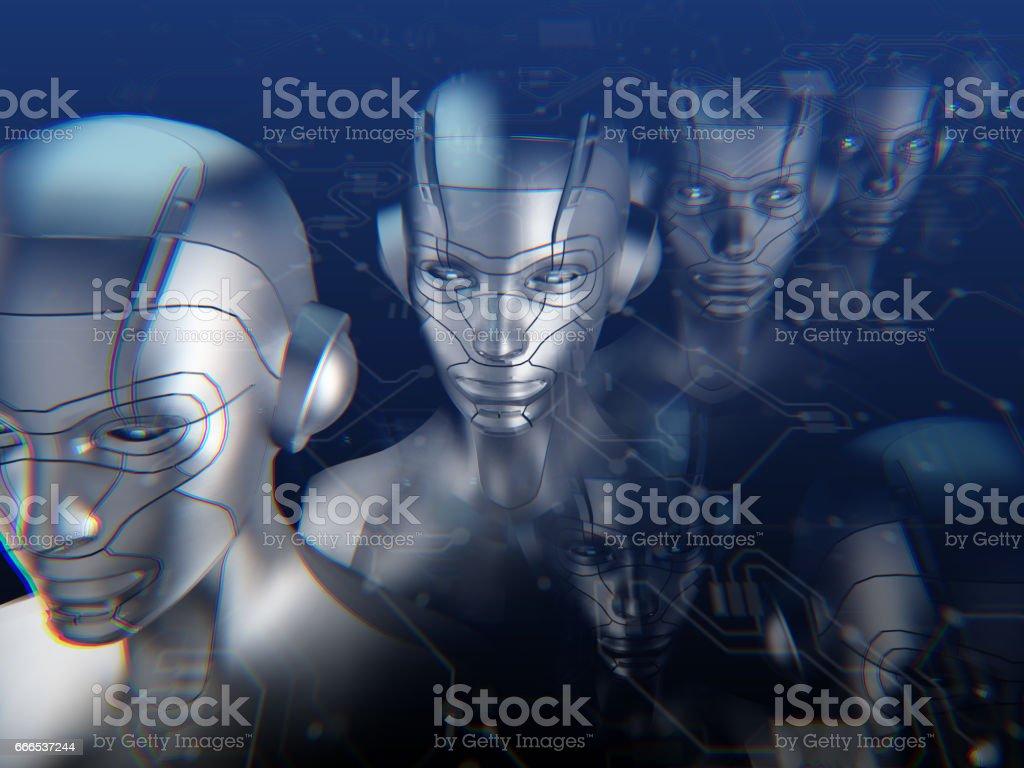 Künstliche Intelliegence Chat-Bot-Technologie – Foto