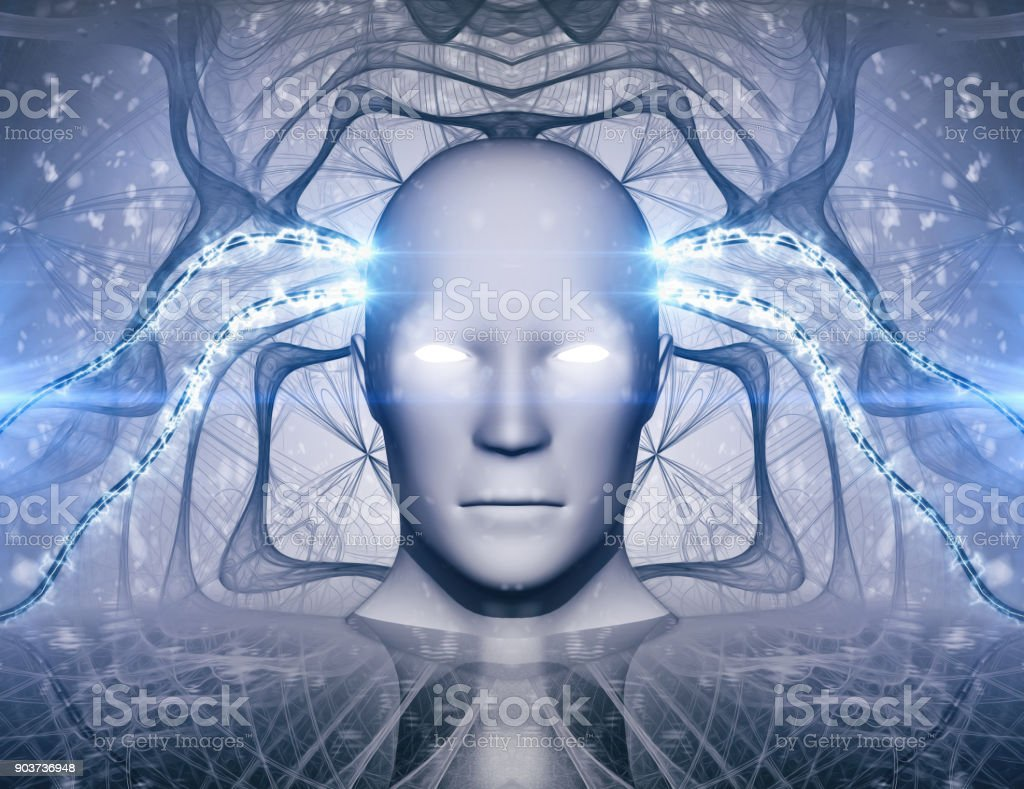 AI Artificial Intelligence Abstract Concept stock photo