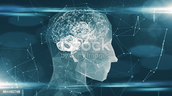 864460734istockphoto Artificial intelligence ai learning robot virtual neural network machine 864460748