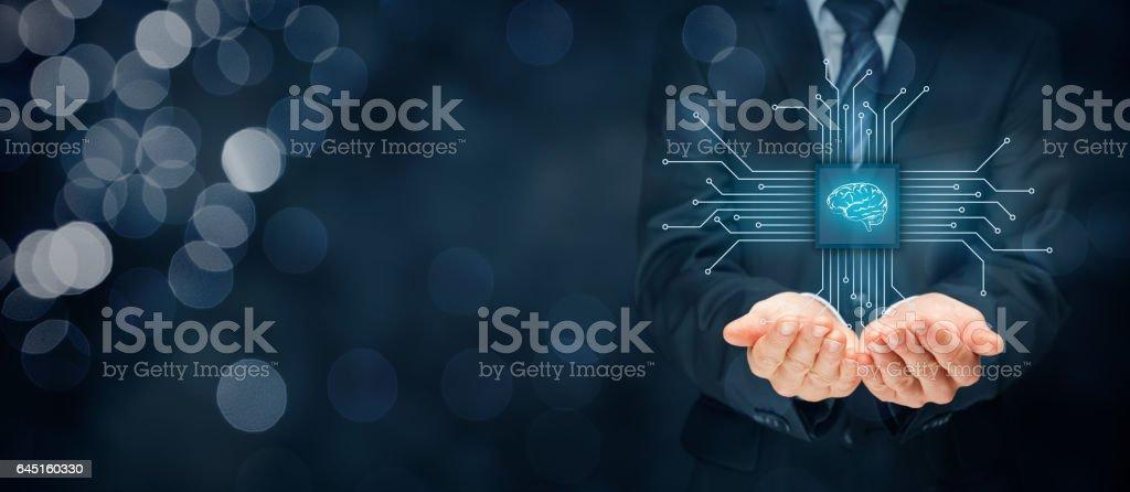Artificial Intelligence AI stock photo