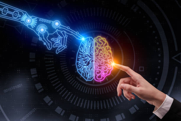 inteligencia artificial y el concepto futuro - inteligencia artificial fotografías e imágenes de stock