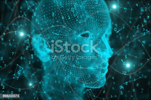 istock Artificial intelligence and mind background 898403374