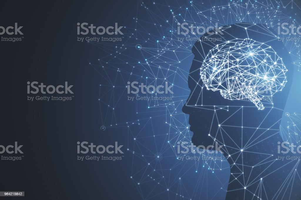 Artificial intelligence and mind concept stock photo