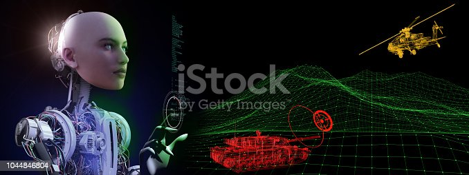 istock Artificial Intelligence and Tank Defense Simulation 1044846804