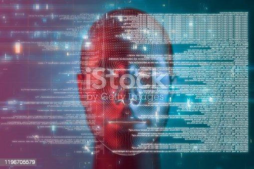 Artificial intelligence and technology abstract backgrounds