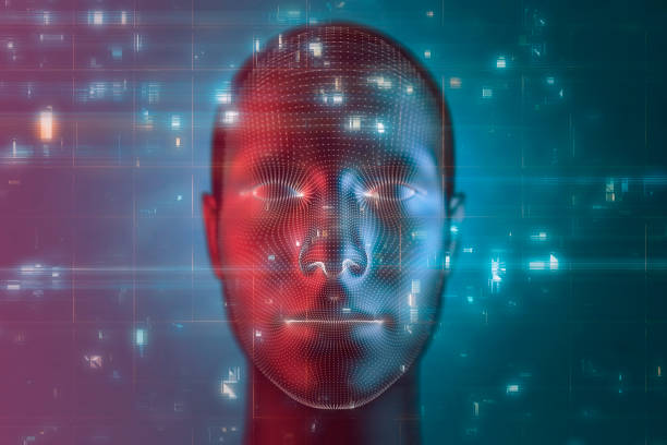 Artificial intelligence and technology stock photo